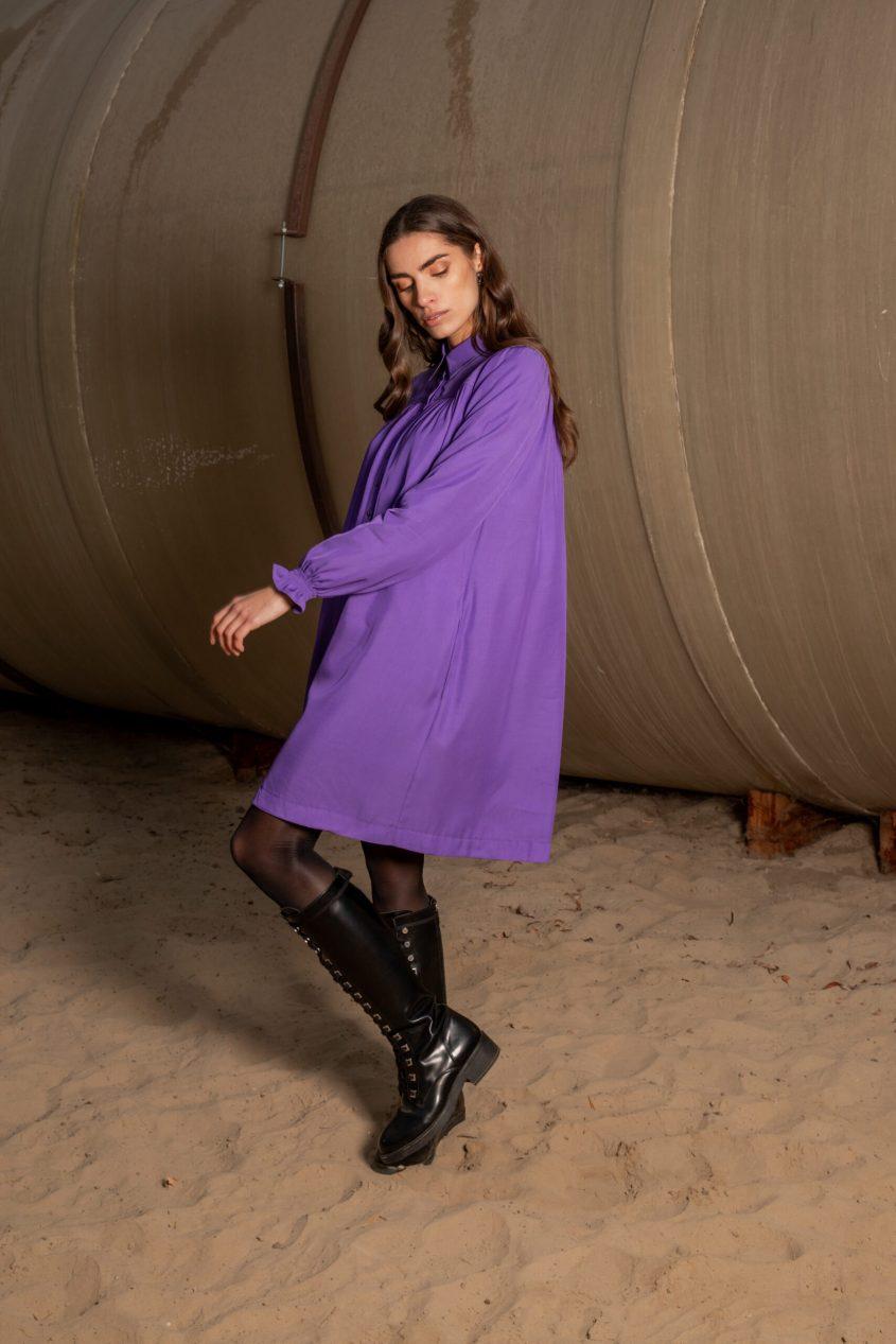 Mon Col FW21 Anemone dress purple 195 €