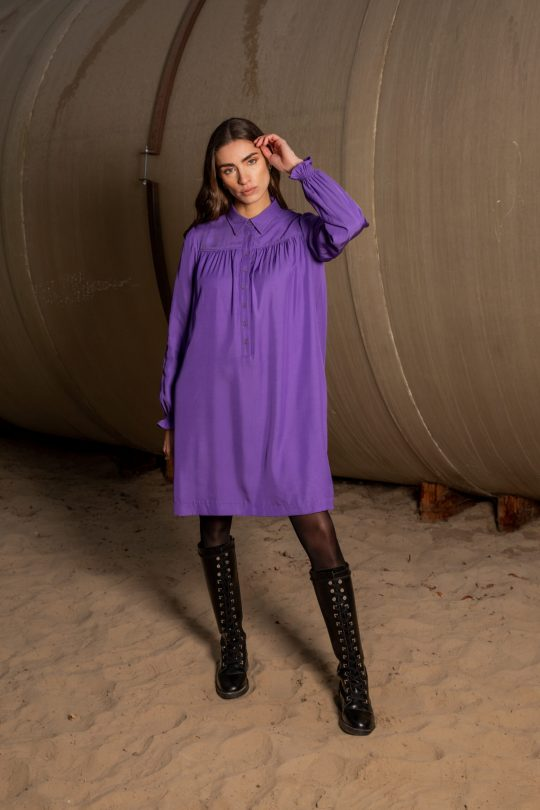 Mon Col FW21 Anemone dress purple 195€